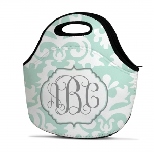 Vintage Damask Personalized Insulated Lunch Tote
