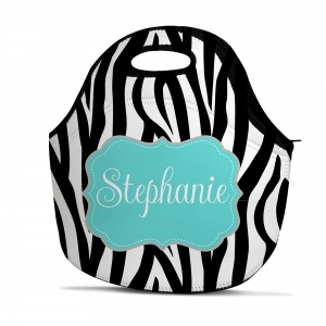 Zebra Print Personalized Insulated Lunch Tote