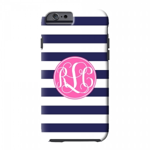 Nautical Stripe Personalized Phone Case