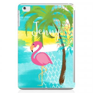 Pink Flamingo Personalized iPad Mini Case