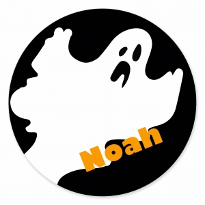 Ghost Personalized Halloween Plate