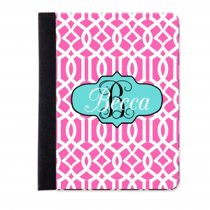 Lattice Print Personalized iPad Mini Folio Case