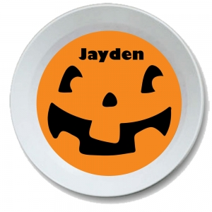 Pumpkin Face Personalized Halloween Bowl