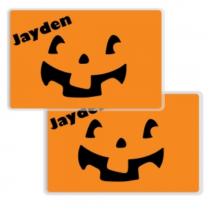 Pumpkin Face Personalized Halloween Placemat