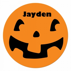 Pumpkin Face Personalized Halloween Plate