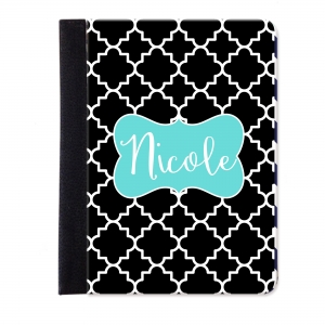 Quatrefoil Personalized iPad Mini Folio Case