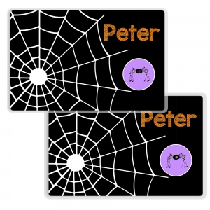 Spiderweb Personalized Halloween Placemat