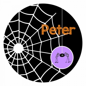 Spiderweb Personalized Halloween Plate