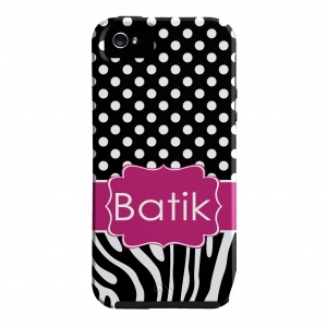 Zebra Polka Dot Personalized Phone Case