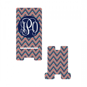 Personalized Navy Multi Chevron Phone Stand