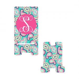 Personalized Paisley Phone Stand