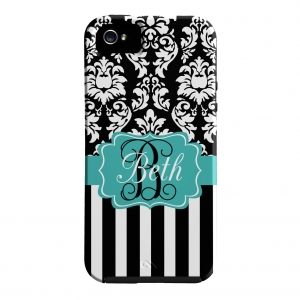 Dandy Damask Stripe Personalized Phone Case