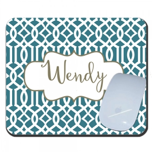 Lattice Print Custom Personalized Mouse Pad