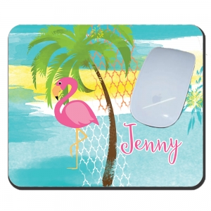 Pink Flamingo Personalized Mousepad