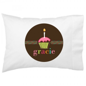 1st Birthday Cupcake Kids Personalized Pillowcase