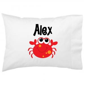 Cute Crab Kids Personalized Pillowcase