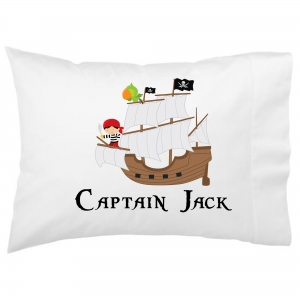 Pirate Ship Kids Personalized Pillowcase