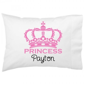 Princess Crown Kids Personalized Pillowcase