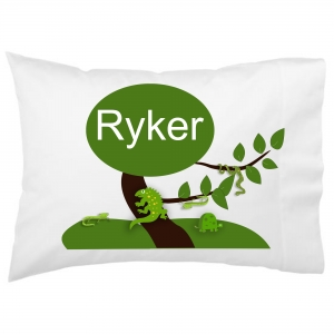 Reptiles Kids Personalized Pillowcase