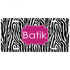 Zebra Personalized Car Tag - Decorative License Plate, Vanity Plate