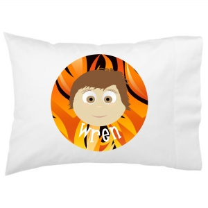Personalized Little Me Boys Pillowcase with Background - Design Your Own Face Pillowcase