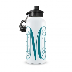 Vine Monogrammed Personalized  Water Bottle