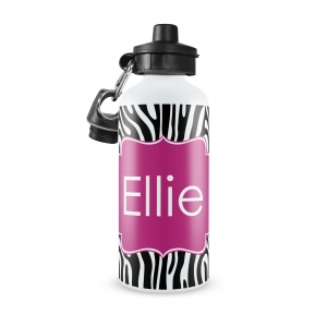 Zebra Personalized Water Bottle
