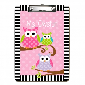 3 Owls Personalized Clipboard