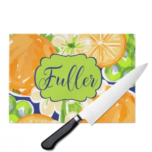 Orange Blossoms Personalized Cutting Board
