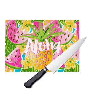 Pineapple Watermelon Personalized Cutting Board