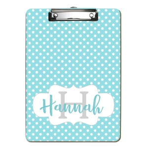 Polka Dots Personalized Clipboard