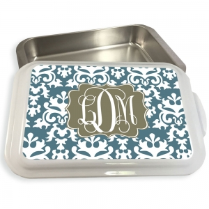 Vintage Damask  Pattern Cake or Casserole Pan