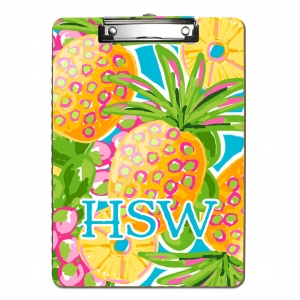 Preppy Pineapple Personalized Clipboard