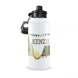 Camping Personalized Water Bottle Personalized Water Bottle, Boys Turtle Water Bottle, Custom Boys Water Bottle