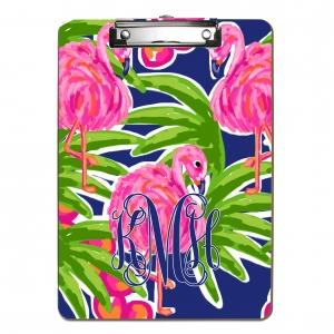 Fancy Flamingos Personalized Clipboard