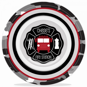 Fire Truck Personalized Boys Microwave Safe Bowl