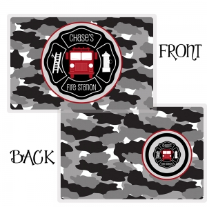 Fire Truck Personalized Placemat, Custom Personalized Boys Placemat