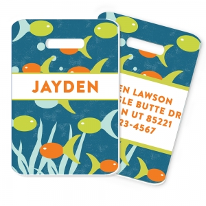 Fish Personalized Luggage and Bag Tag, Monogrammed Bag Tag