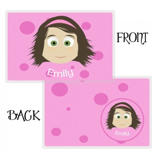 Personalized Girls Placemat - McKenna Pm6 Personalized Placemat For Kids