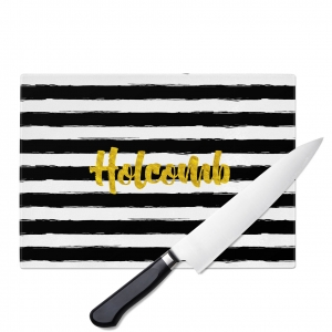 Painted Stripes Personalized Cutting Board