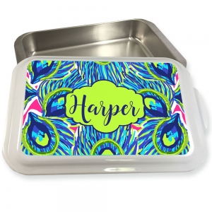 Personalized Peacock Feather Pattern Cake Pan