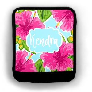 Pink Hibiscus Luggage Wrap Flat View