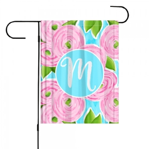 Pink Ranuculus Personalized Garden Flag