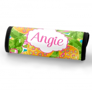 Preppy Pineapple Personalized Luggage Handle Wrap