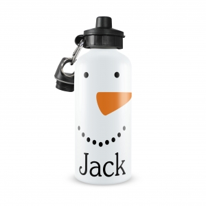 Snowman Face Personalized Water Bottle Personalized Water Bottle, Boys Turtle Water Bottle, Custom Boys Water Bottle