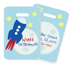 To The Moon Kids Personalized Bag Tag