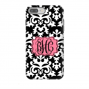 Vintage Damask Monogrammed Phone Cover