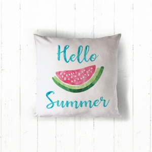 Hello Summer Personalized Pillow