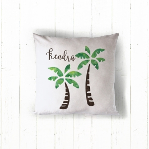 Palm Trees Personalized Pillow