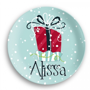 Holiday Gift Personalized Kids Microwave Safe Plate